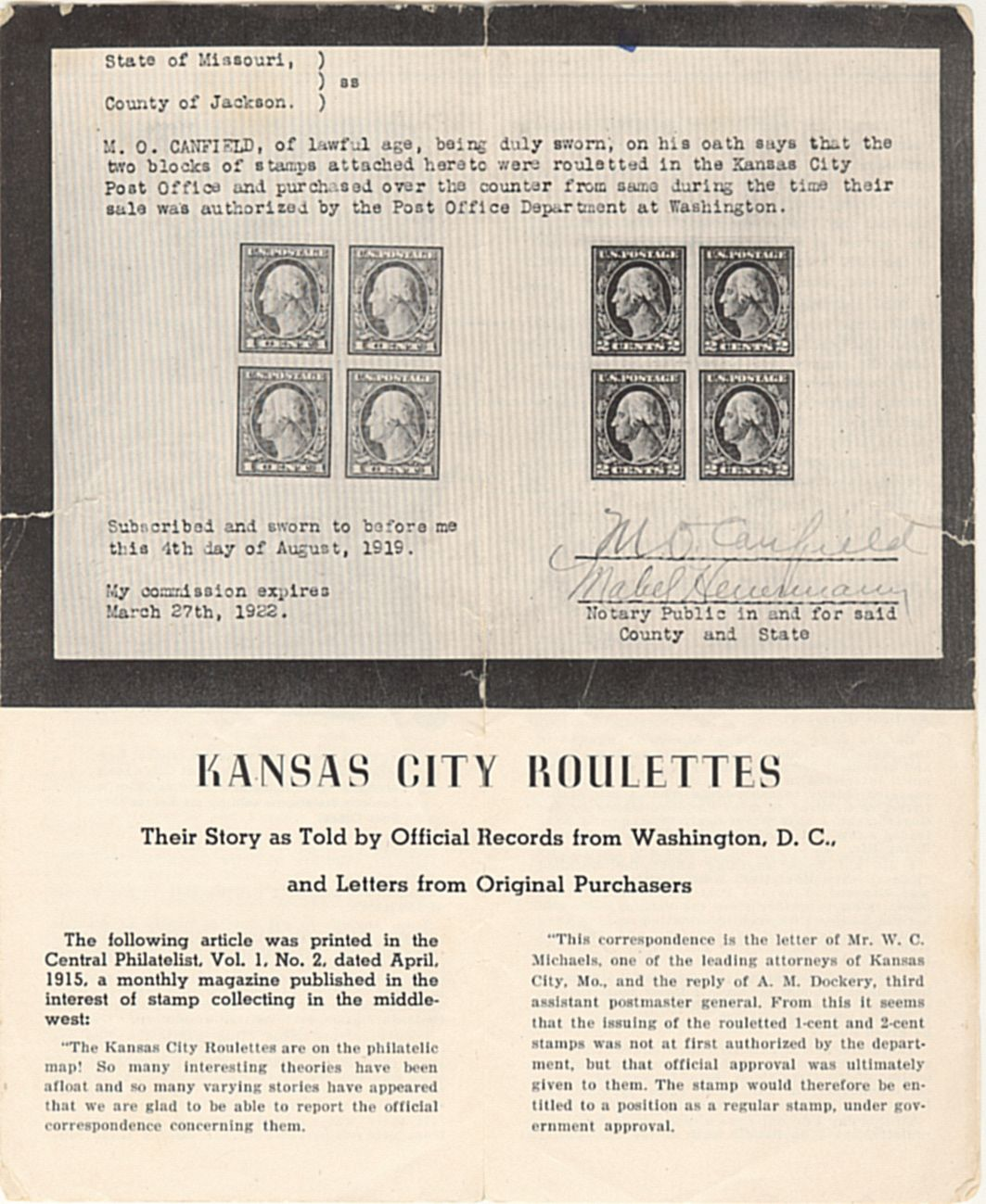 Hundred Kansas City Roulettes, Other Collectors In Kansas City And  Beyond Were Always Wary Of Being Offered The Real Thing Some Of Them, Like  Mo